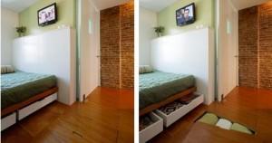Under Floor Bedroom Storage
