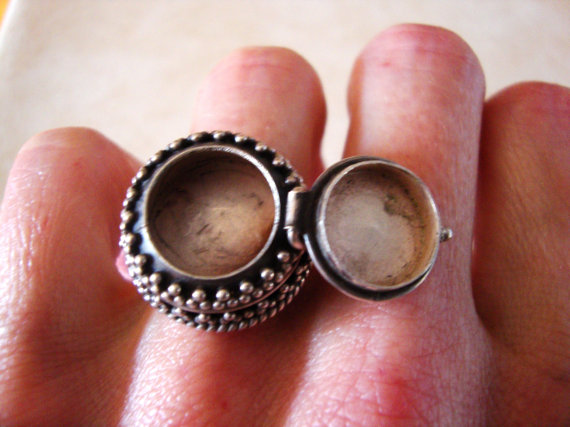 Secret Compartment Silver Ring