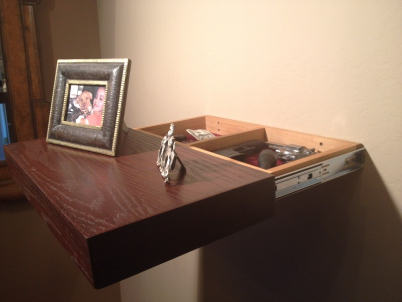 Slide-Out Secret Compartment Shelf