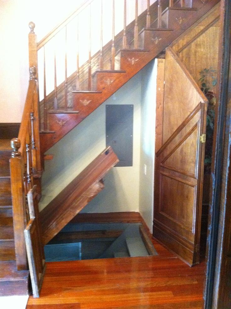 Secret compartments hidden doors secure stashes for Door under stairs