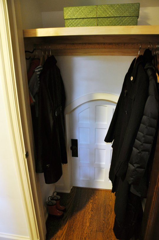 Door to Kid's Hideout in Closet