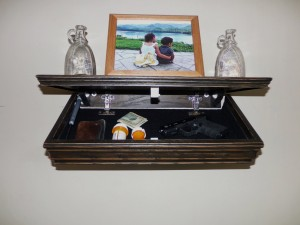 Secret Compartment in Wall Shelf