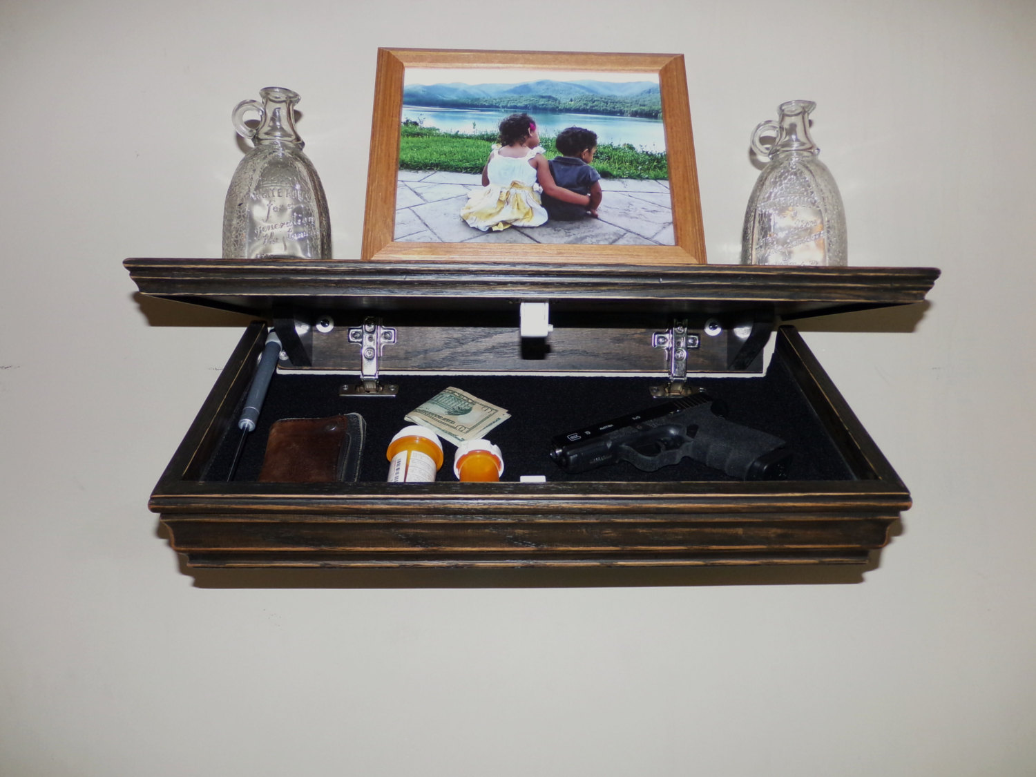 Hidden Gun Compartment Under Shelf | StashVault