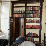 Hidden Bookcase Door in Castle Library