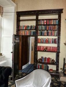 Hidden Bookcase Door in Castle Library