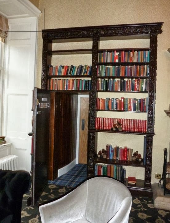 Secret Faux Bookcase Door in Castle