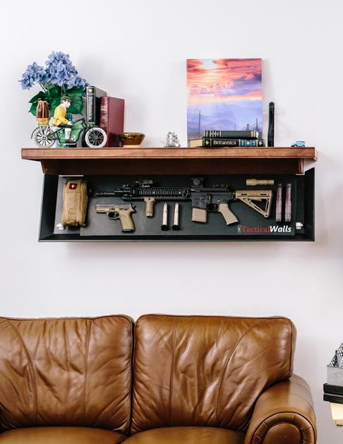 TacticalWalls Shelf with Hidden Gun Storage