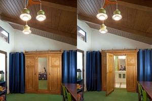 Narnia Wardrobe to Secret Room