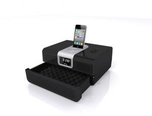 iPhone Dock Clock Radio and Security Safe