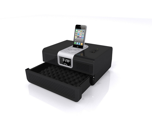 Clock Radio Safe and iPhone Dock