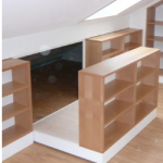 Hidden Storage Behind Bookcase