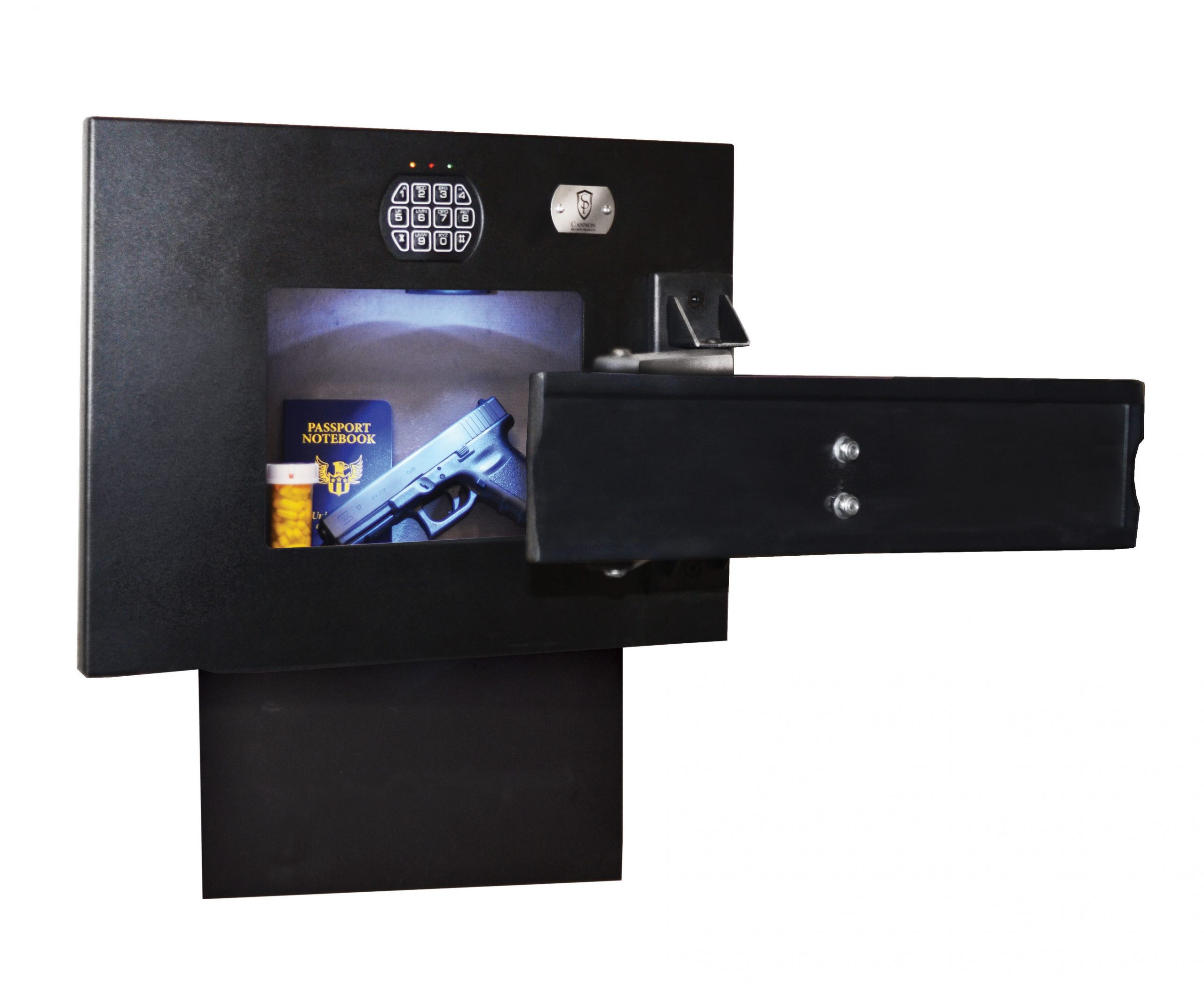 Wall Mount TV Hidden Compartment Safe