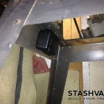 Magnetic Stash Box Underneath Table Saw