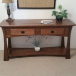Sofa Table with Secret Drawers