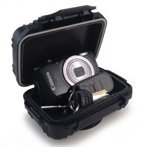 Camera And Keys In Waterproof Stash Safe