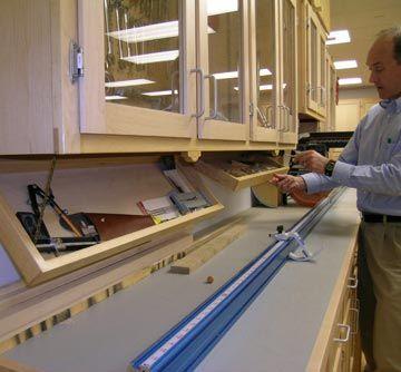 Hidden Under Cabinet Storage Trays