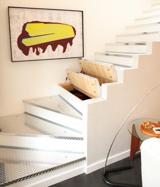 Hidden Storage In Stairs