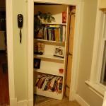 Secret Bookcase Door to Basement