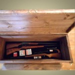 Secret Compartment Furniture -  Coffee Table with False Bottom Gun Storage