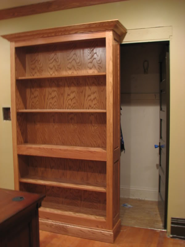 Bookcase Slides To Reveal Hidden Closet Stashvault