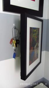 Keys Hidden Behind Picture Frame