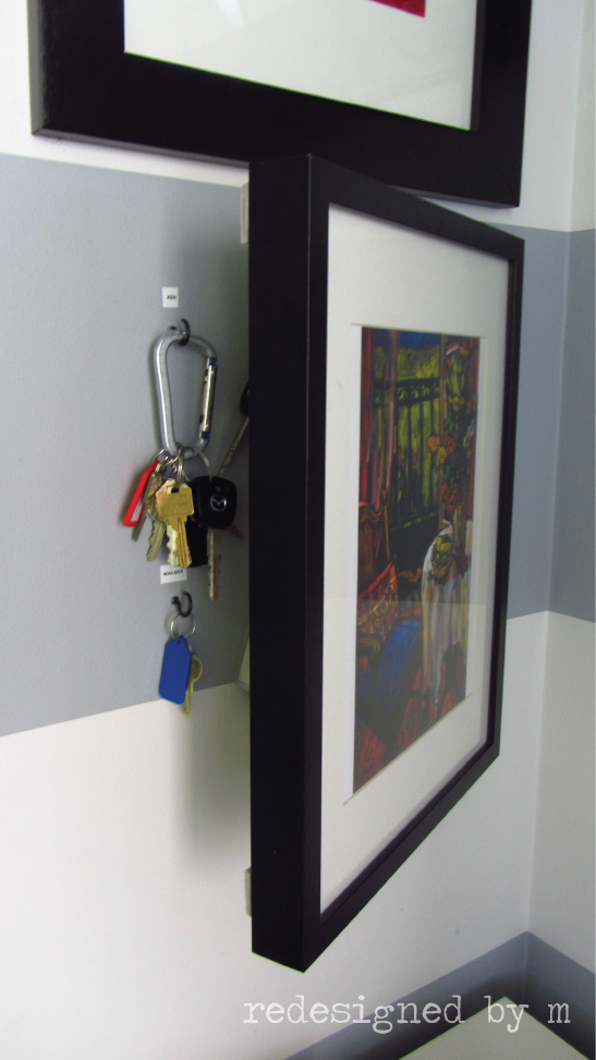 Keys Hidden Behind Picture Frame