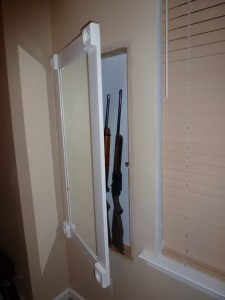 Secret Gun Storage Behind Mirror