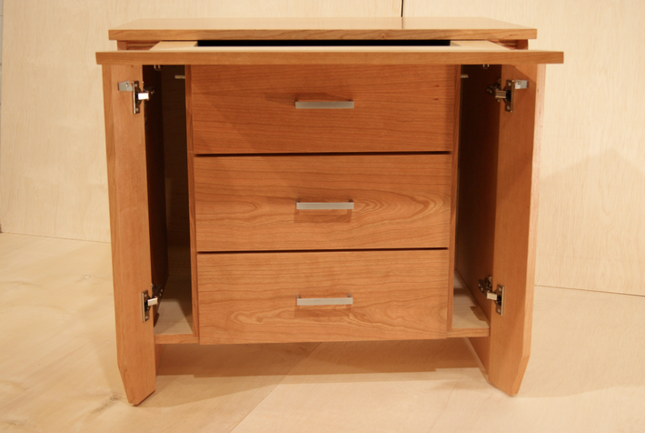 Secret Drawer and Compartments in Nightstand