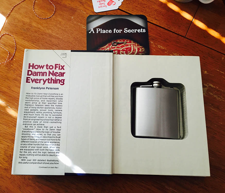 Secret Hollow Book with Flask
