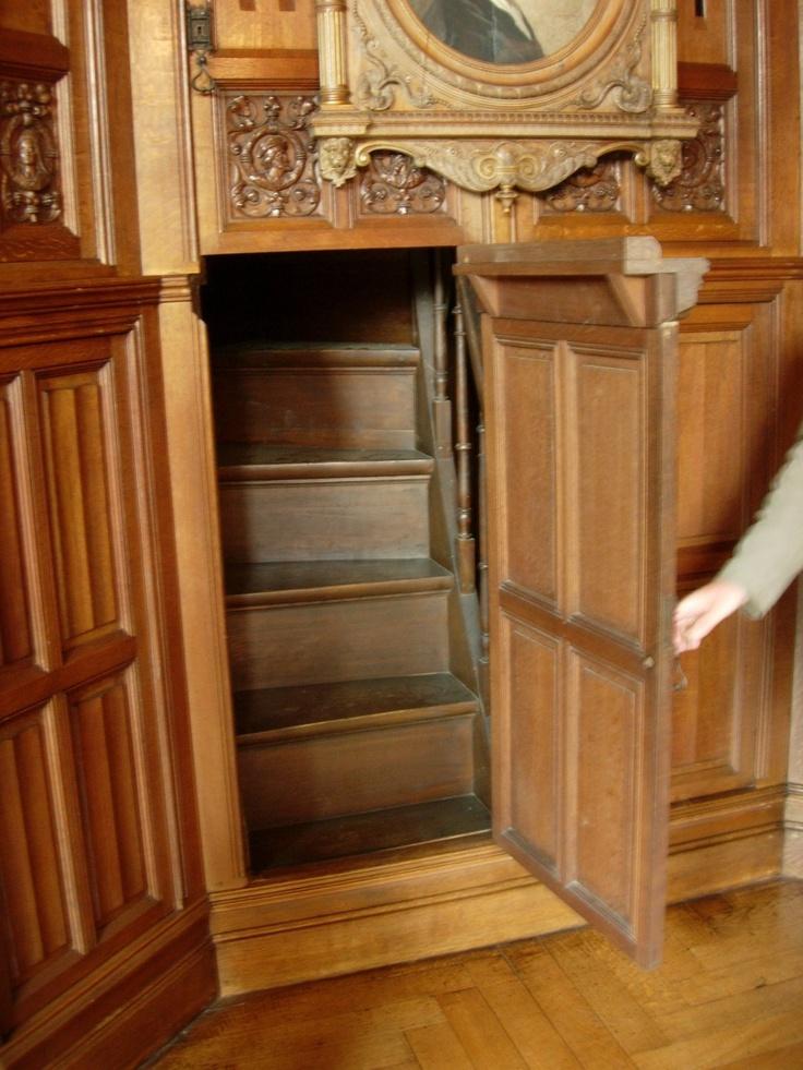Stairs Behind Secret Door