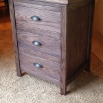 Custom Nightstand with Hidden Drawer