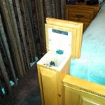 Secret Gun Storage in Bed Post