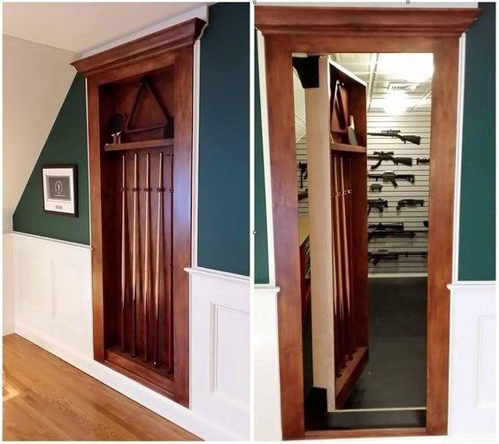 Secret Billiard Door to Gun Room