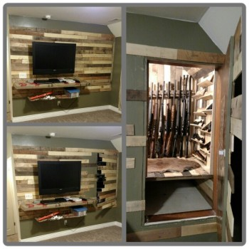 Secret Door to Gun Storage Safe