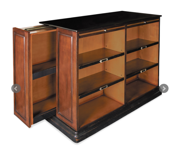 Hidden Storage Drawer in Alchemist Bookcase