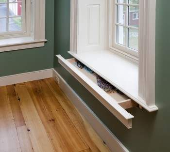 Hidden Storage Drawer Under Window