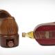 Heel of Leather Shoe Holds Whiskey Bottle