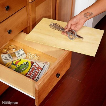 DIY False Bottom Drawer