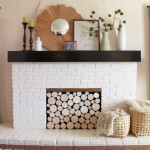 Faux Wood Pile in Fireplace