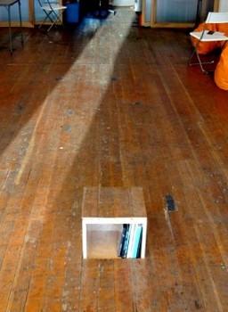 Secret Bookcase Raises from Floor