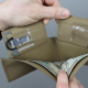 Hidden Storage Flaps in Tactical Wallet