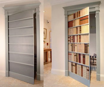 Secret Faux Bookcase Door