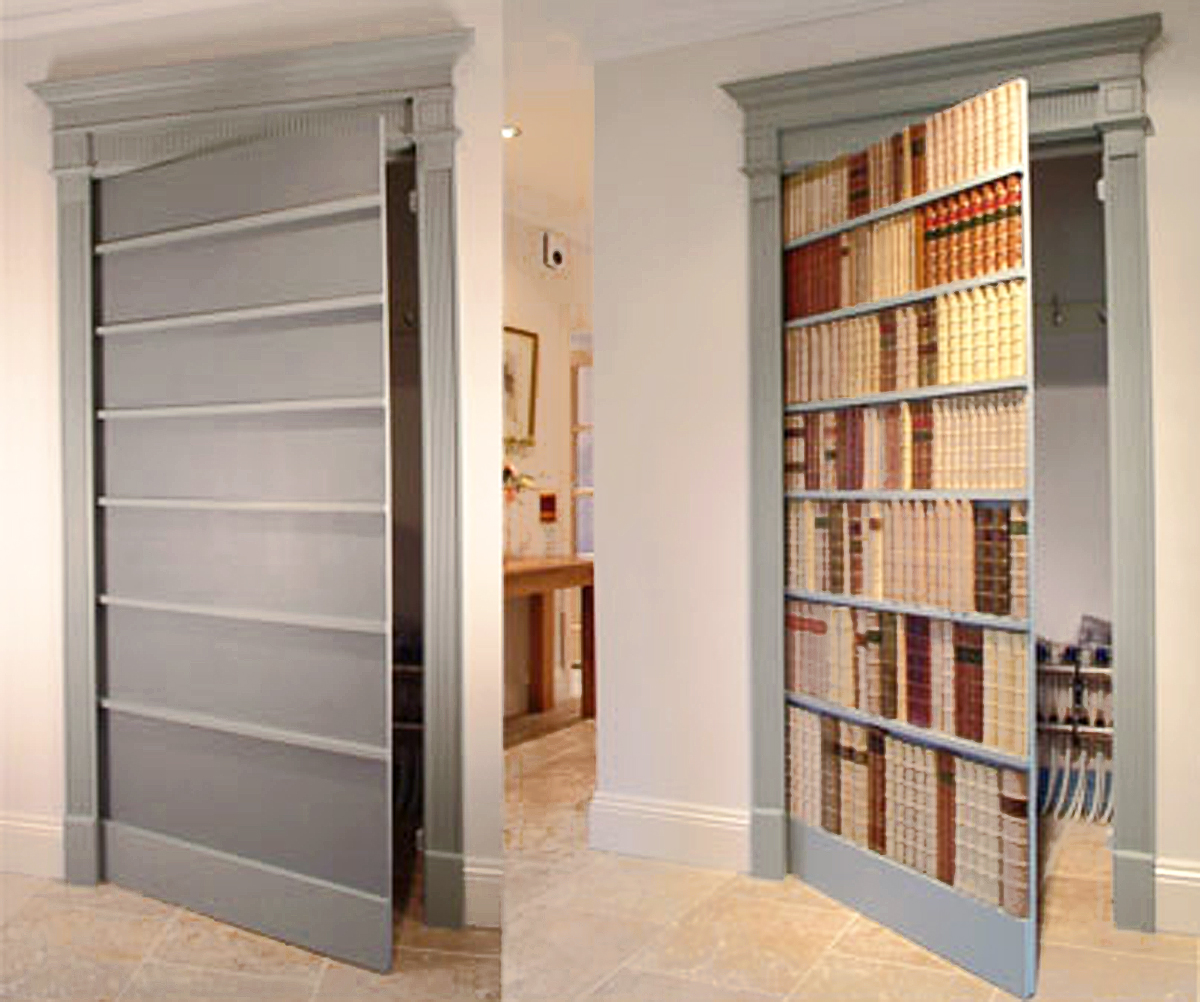 Secret Faux Bookcase Door