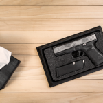 Pistol Beneath Tissue Box