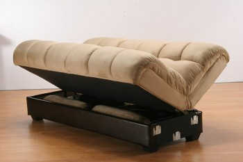 Futon Lifts Up to Reveal Hidden Storage