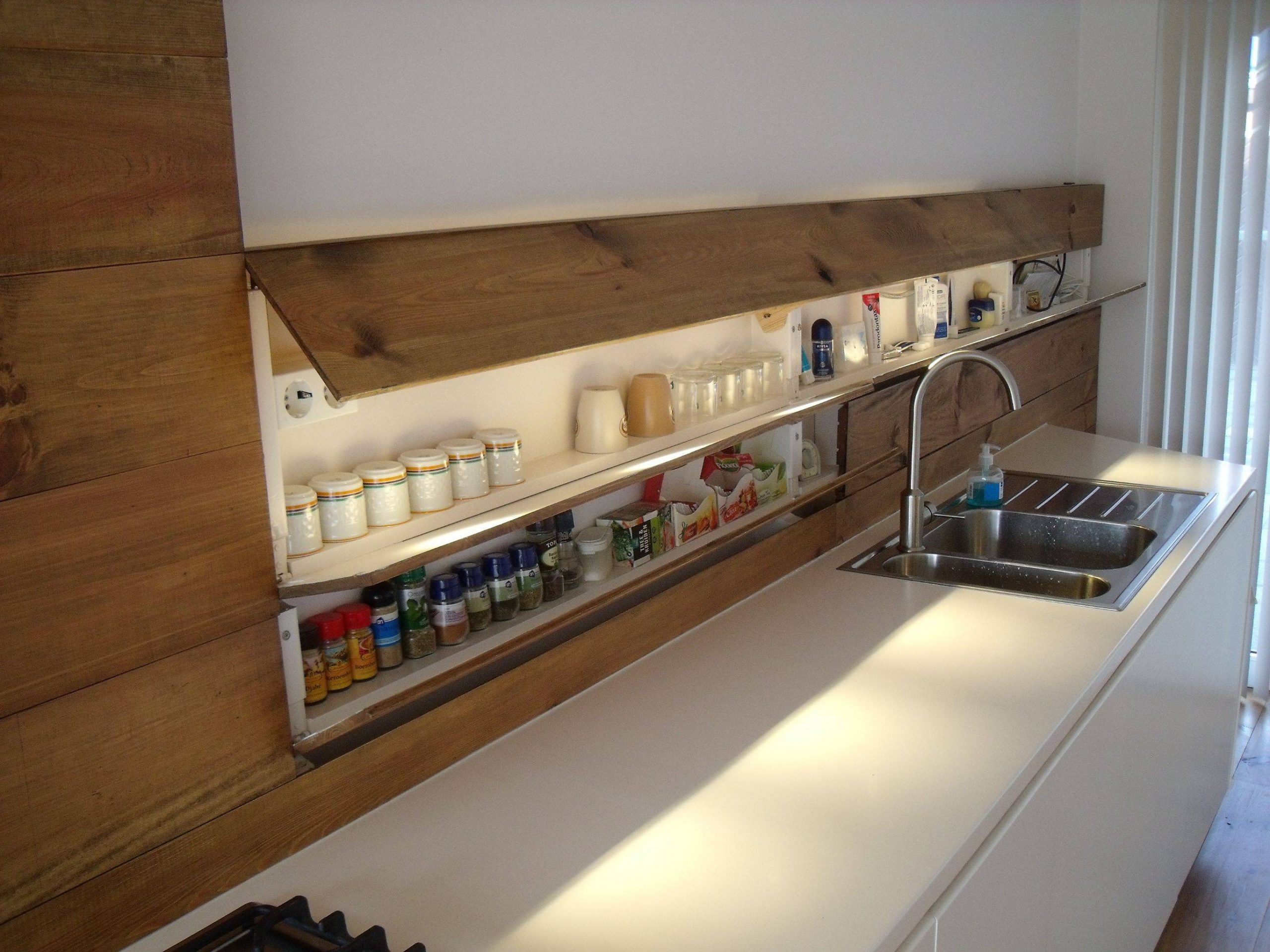 Hidden Kitchen Storage Compartment