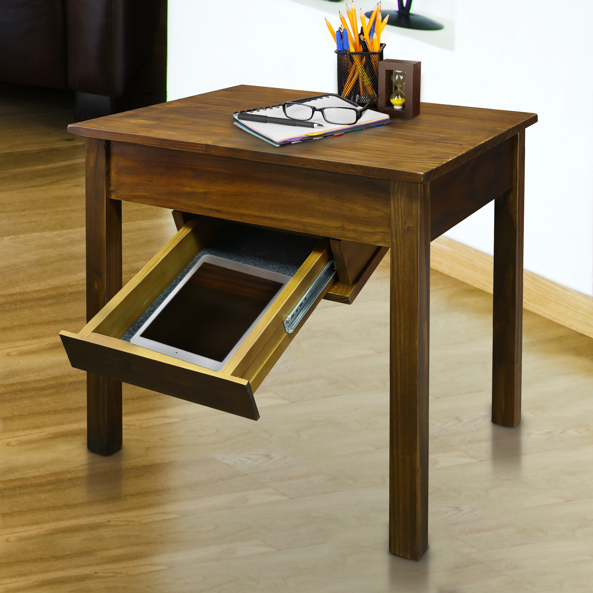 Kennedy End Table with Secret Drawer Underneath