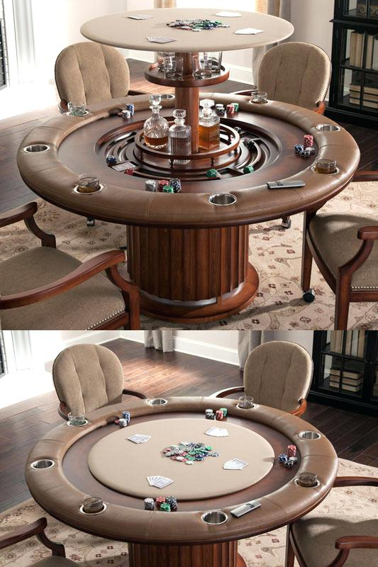 Hidden Bar in Poker Table