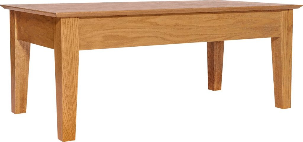 Wooden Coffee Table with Secret Compartment for Long Item Storage
