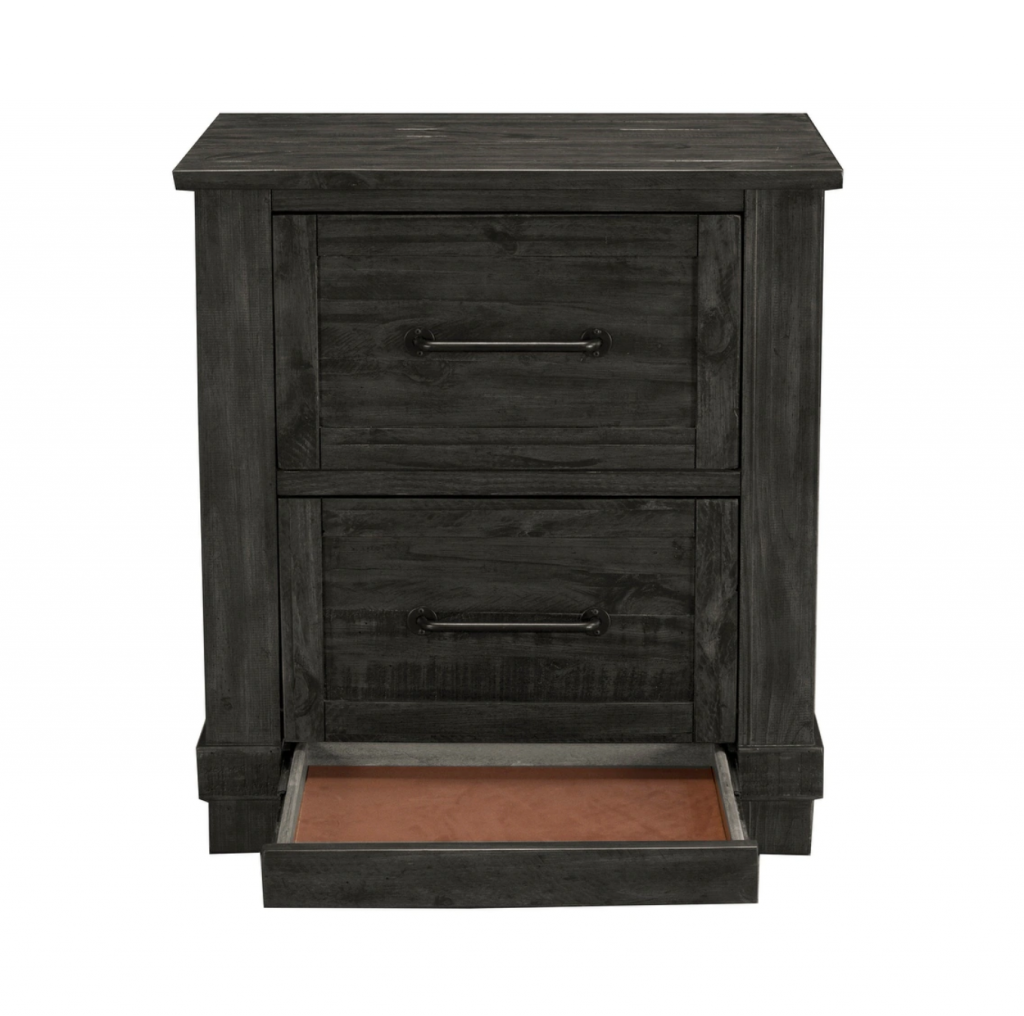 Night Stand with secret third drawer storage